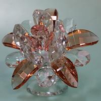 クリスタルガラス置物花