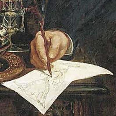 ジュゼッペ・バロヴィエールの肖像 部分