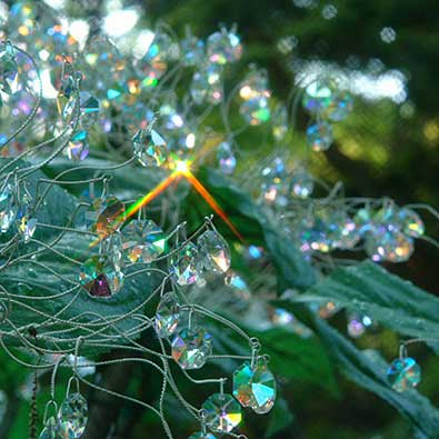 クリスタル・ガラスのアジサイ